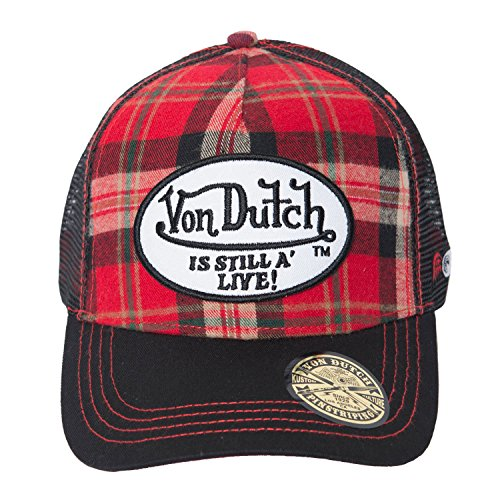 von-dutch-mens-red-flannel-trucker-hat-one-size