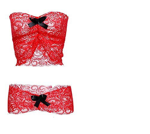 womens-lace-trim-bra-crop-and-mini-skirt-lingerie-chemise-red