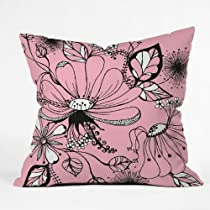 DENY Designs Rebekah Ginda Design Wildflowers Throw Pillow