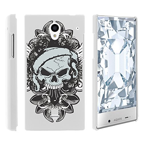 AQUOS Crystal Case, Slim Fit Snap On Cover with Unique, Customized Design for Sharp AQUOS Crystal 306 SH (Sprint, Boost Mobile, Virgin Mobile) from MINITURTLE | Includes Clear Screen Protector and Stylus Pen - Demon Skull (Sharp Aquos Crystal International compare prices)