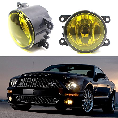 iJDMTOY (Pair) Selective Yellow Driver Passenger Sides Fog Light Lamps with H11 Halogen Bulbs For Acura Honda Ford Nissan Subaru Suzuki, etc (2009 Wrx Fog Lights compare prices)