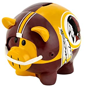 NFL Washington Redskins Resin Large Thematic Piggy Bank by Forever Collectibles