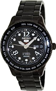 Seiko Women's 5 Automatic SRP371K Grey Stainless-Steel Automatic Watch with Black Dial