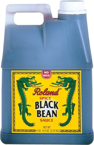 Roland Spicy Black Bean Sauce (no Msg), 4 Pound  Plastic Jug (Pack of 2)