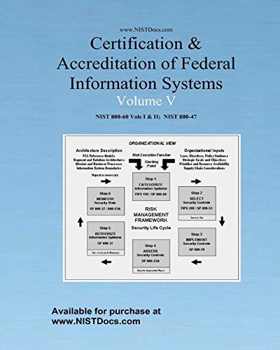 Certification & Accreditation of Federal Information Systems Volume V: NIST 800-60 Volumes I & II, NIST 800-47: 5