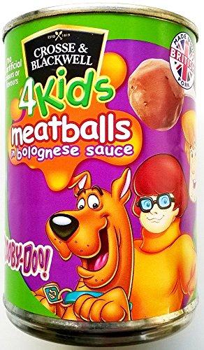 Cross & Blackwell pour enfants Scooby Doo Boulettes de viande à la sauce bolognaise 3 x 370gm