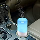 Sekway 自動車用加湿器 家用加湿器 超音波 アロマディフューザー USB充電可能 空焚き防止機能 多色変換LED 時間設定 空気清浄 保湿静音 50ml(多色)