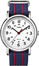 Timex Original Unisex Quartz Watch with White Dial Analogue Display and Multicolour Nylon Strap - T2N747