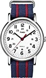 Timex Weekender Central Park Quartz Watch with  Dial Analogue Display and Nylon Strap T2N746PF