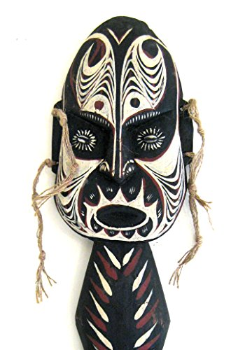 """OMA® African Mask Protection From Evil Blessing Shield Wood Carved Wall Hanging Decor LARGE 22"""""""