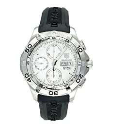 TAG Heuer Men s CAF2011 FT8011 Aquaracer Automatic Chronograph Rubber Strap Watch
