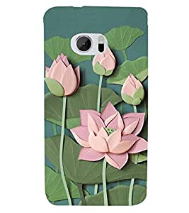 Lotus Vector Clipart Cute Fashion 3D Hard Polycarbonate Designer Back Case Cover for HTC 10 :: HTC One M10