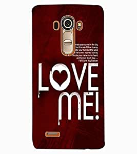 ColourCraft Love Quote Design Back Case Cover for LG G4