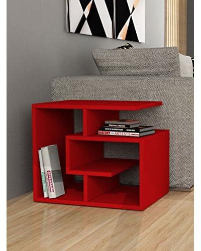 Decortie By Homemania Labirent Tavolino red