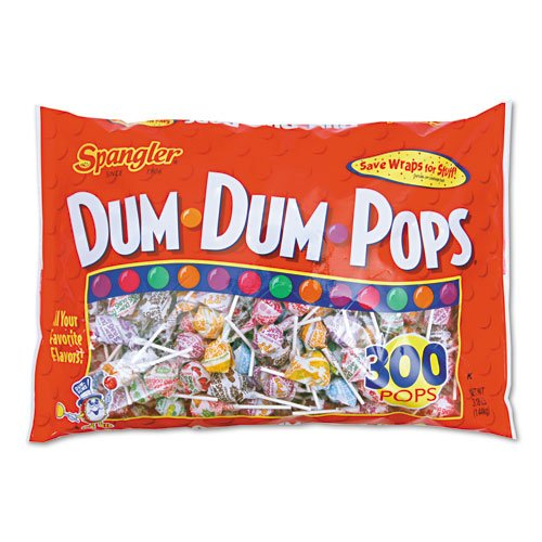 Spangler Products - Spangler - Dum-Dum-Pops, Assorted Flavors, Individually Wrapped, 300/Pack - Sold As 1 Pack - The classic, all American lollipop. - Fun, assorted flavors. - Individually wrapped.