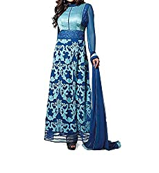 Poonam Fab-Unstitch Dress Material_Blue-106