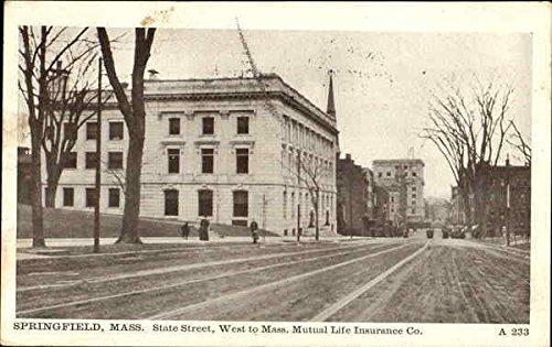 west-to-mass-mutual-life-insurance-co-state-street-springfield-massachusetts-original-vintage-postca