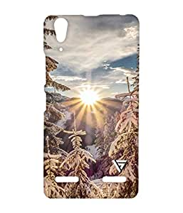 Vogueshell Rising Sun Printed Symmetry PRO Series Hard Back Case for Lenovo A6000