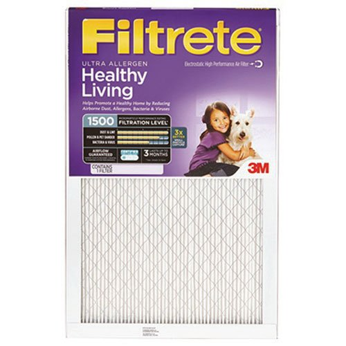 "3M Filtrete Ultra Allergen Reduction FPR9 Air Furnace Filter 14"" X 25"" X 1"""