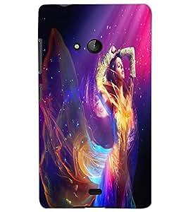 MICROSOFT LUMIA 540 BEAUTIFUL GIRL Back Cover by PRINTSWAG