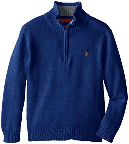 Izod Big Boys 39 Long Sleeve Solid 1 4 Zip Sweater Medium