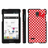 Mobiflare LG Optimus L9 P769 Red/White Polk-a-Dots with Bow Slim Guard Protect Artistry Design Case