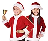 Fun World Kids Boys Girls Santa Claus Christmas Costume Jacket + Hat Large