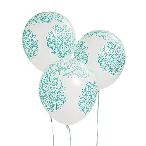 "Emerald Green Swirl Latex 11"" Balloons (25 Pack) Wedding Decor"