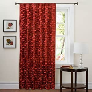 Triangle Home Fashions 19112 Lush Decor 84-Inch lillian Curtain Panel, Red