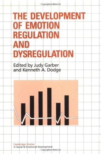 The Development Of Emotion Regulation And Dysregulation (Cambridge Studies In Social And Emotional Development) front-1067311