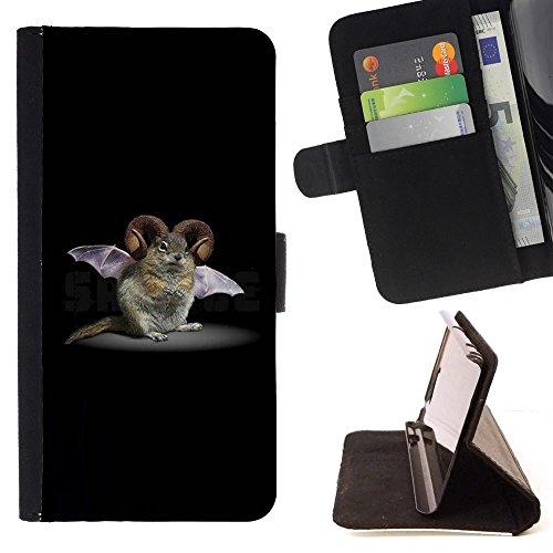 momo-phone-case-flip-funda-de-cuero-case-cover-roedor-bat-cuernos-de-ficcion-criatura-biotecnologia-