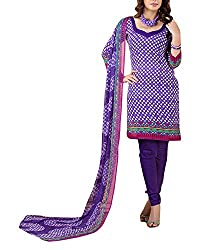 Clothing Deal Women's Cotton Silk Unstitched Dress Material (Purple)