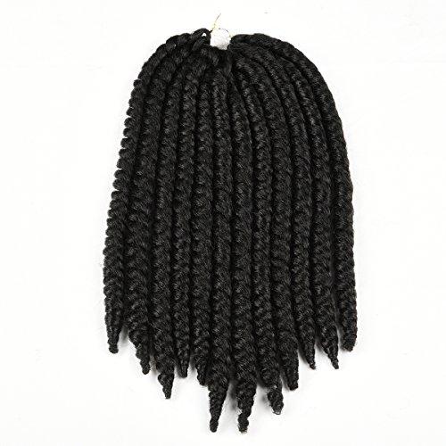 Originea TM 2x Havana Crochet trecce Mambo Twist Lot 12Inch 6pacchetti 1B # Off Nero