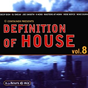 Various artists definition of house 8 music for Define house music