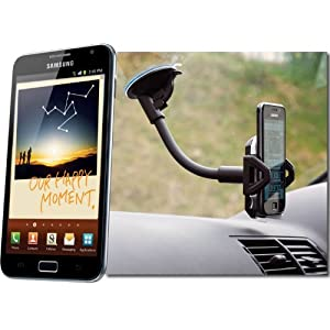 UltimateAddons Car Kit Holder with Flexible Windscreen Mount for Samsung Galaxy Note N7000