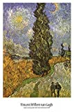 Posters: Vincent Van Gogh Poster - Cypress Against A Starry Sky (36 x 24 inches)