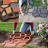 42cm DIY Plastic Path Maker Mold Manually Paving Cement Brick Stone Road Auxiliary Tools (Color: Black)