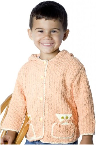 JuneBee Baby, Inc. My Playful Kittens Cotton & Bamboo Knit Toddler Cardigan Hoodie