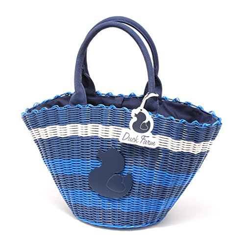 4704G borsa donna blu DUCK FARM borsetta bag women [UNICA]