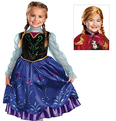 Disney Frozen Deluxe Anna Costume with Wig