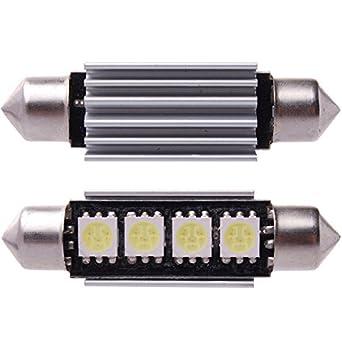XCSOURCE® 6 x dôme de voiture de 5050 SMD LED Canbus ampoule feston 42MM Blanc LD308