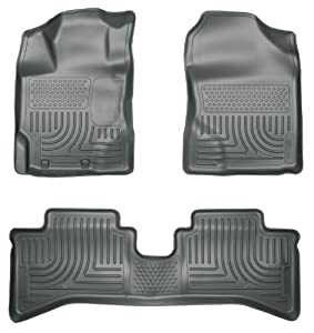 Husky Liners 99502 WeatherBeater Grey Front and 2nd Seat Floor Liner