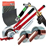 Rothenberger - Set per saldatura Superfire 2 con torcia, tappetino da saldatura e curvatubi/taglierini da 15-22 mm