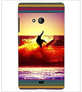 PrintDhaba Diving D-5699 Back Case Cover for MICROSOFT LUMIA 540 (Multi-Coloured)
