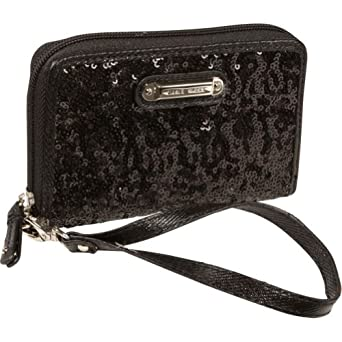 Nine West Handbags Flash Lite Zip Around Tech (Black)