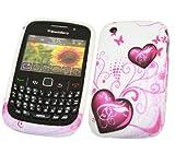 ITALKonline ProGel PURPLE WHITE HEART Super Hydro Gel Protective Armour/Case/Skin/Cover/Shell for BlackBerry 8520 Curve 9300 3G