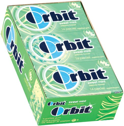 Orbit Sweetmint Sugarfree Gum, 14-Piece Packs (Pack of 24)