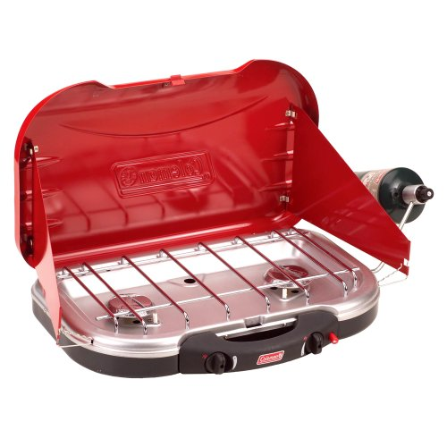Coleman Electronic Ignition Propane Stove with Handle &#8211; Red