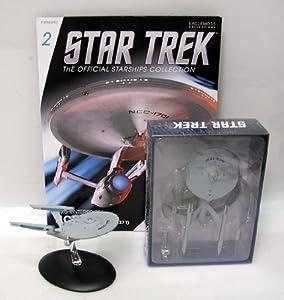 """Star Trek USS Enterprise 1701 Refit Die Cast 5"""" Spaceship w Magazine"""