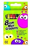 Fun Wax Crayon Pack of 8